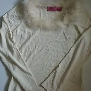 Diva by Dana Buchman feather sweater